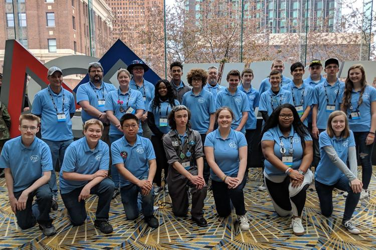 Photo of Cometbot Members in World Competition